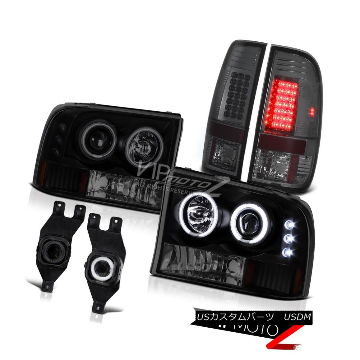 ヘッドライト 99-04 Ford F-Series Super Duty Devil CCFL Halo Headlight LED Tail Lamps Foglight 99-04 Ford FシリーズSuper Duty Devil CCFL HaloヘッドライトLEDテールランプFoglight