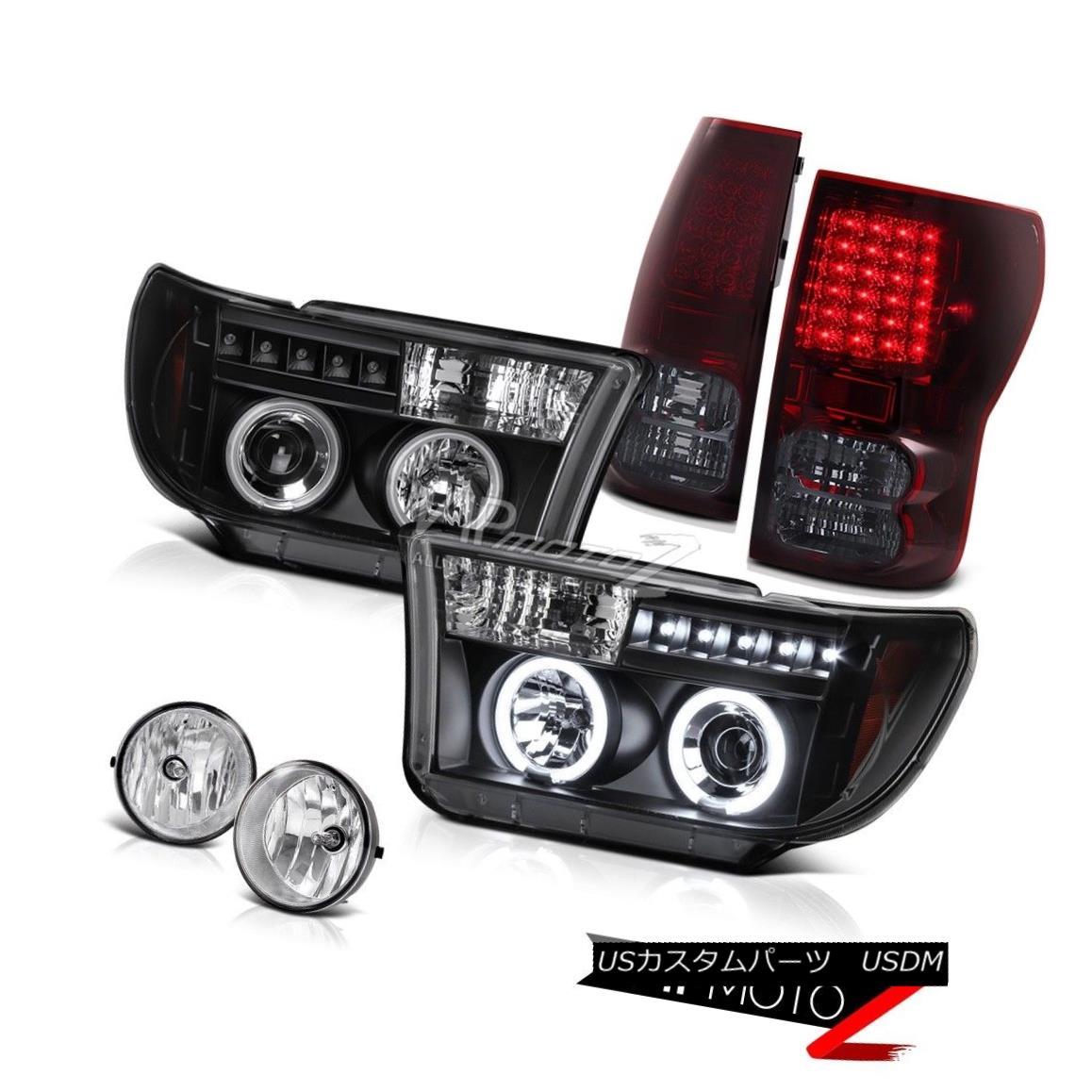 ヘッドライト Toyota Tundra 2007-2013 CCFL Projector Headlight+SMOKEY Led Tail Light+Fog Lamp トヨタツンドラ2007-2013 CCFLプロジェクターヘッドライト+ SMOK  EY Ledテールライト+フォグランプ