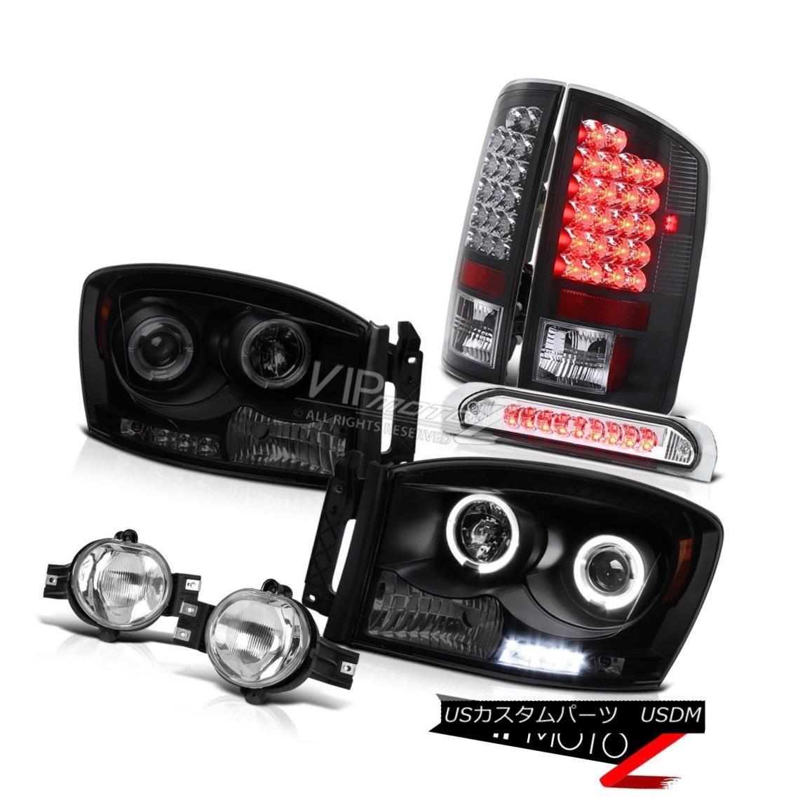 ヘッドライト Dual Halo Headlight LED Taillight Foglamp Third Tail Lamp Ram 1500 Laramie 07 08 デュアルヘイローヘッドライトLEDテールライトFoglamp第3テールランプラム1500ララミー07 08