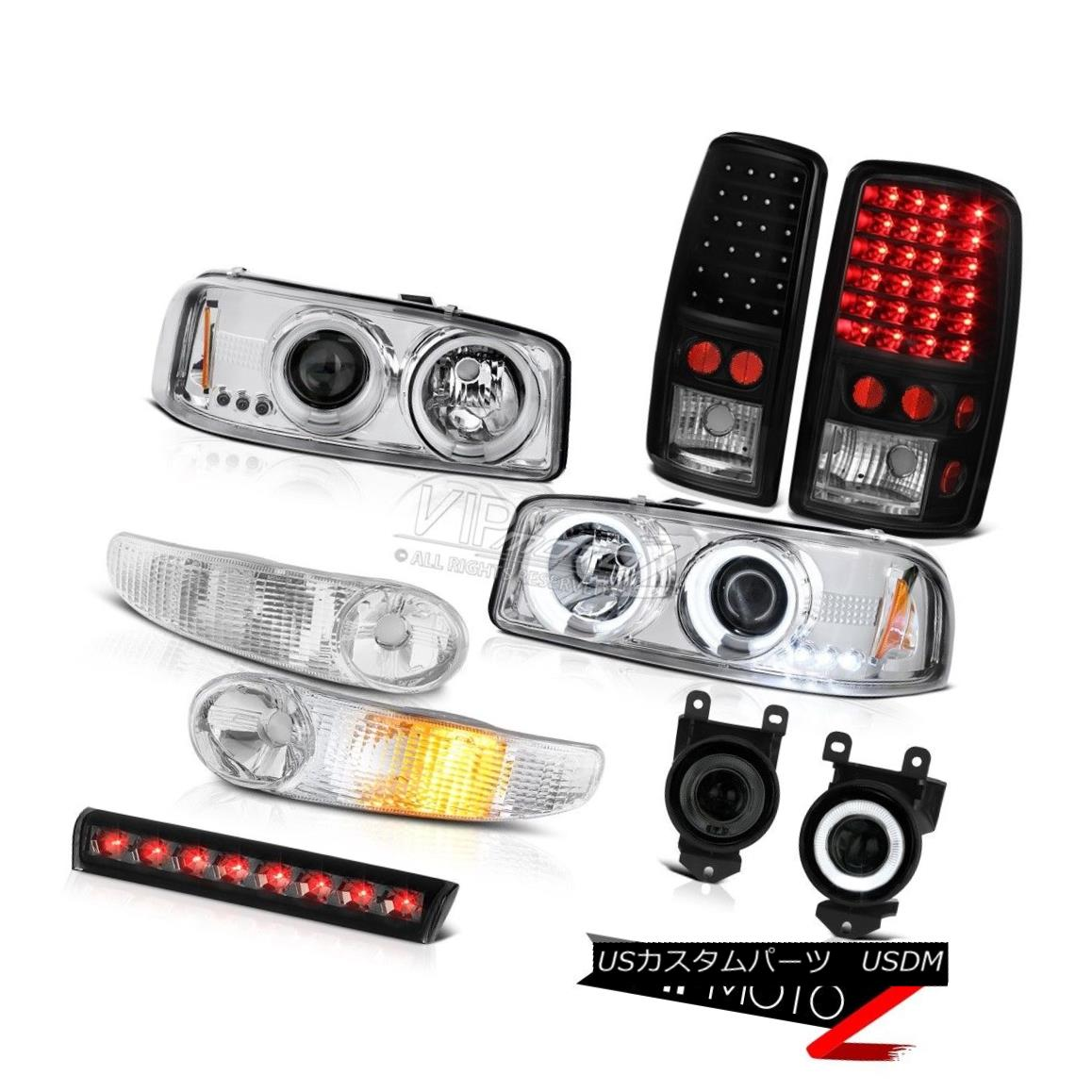 ヘッドライト 01-06 GMC Yukon Denali Halo Headlight Bumper Brake Light FogLamp Third Brake LED 01-06 GMCユーコンデナリハローヘッドライトバンパーブレーキライトフォグランプ第3ブレーキLED