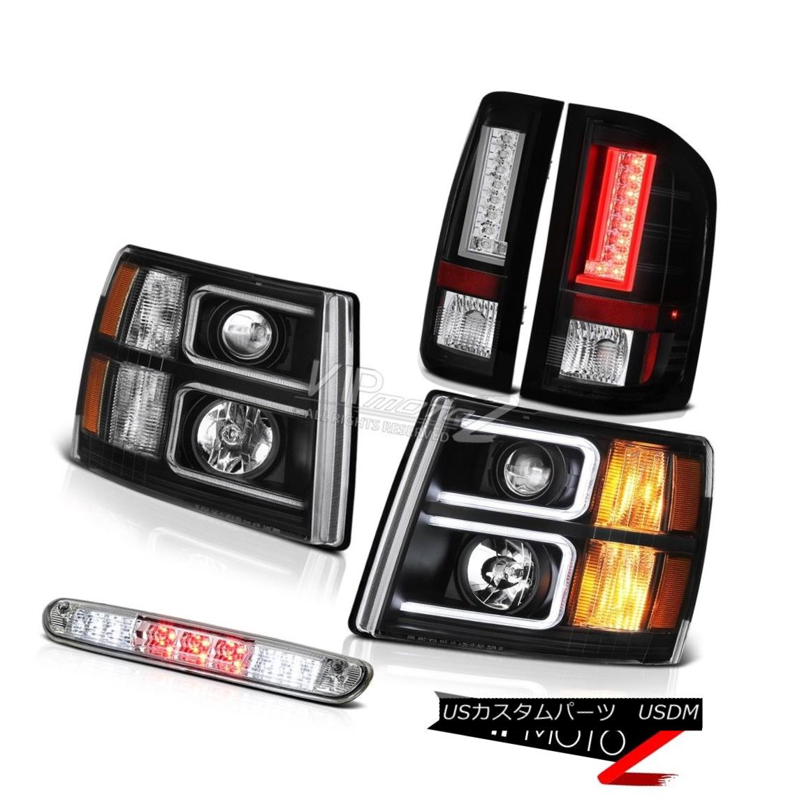 ヘッドライト 07-13 Silverado 1500 Tail Brake Lamps Headlights 3RD Light