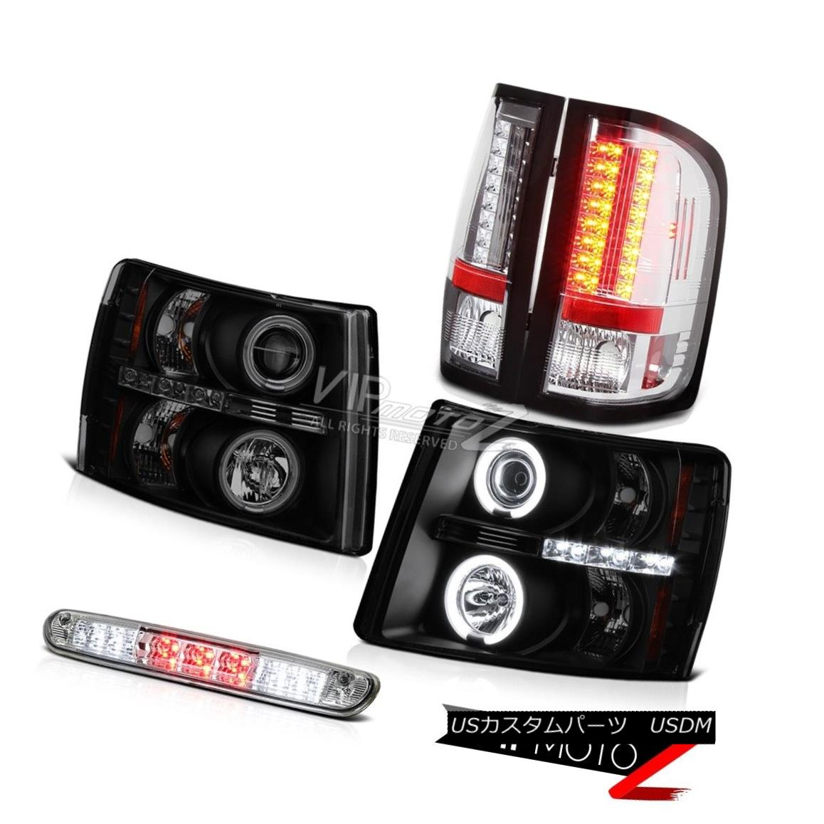 ヘッドライト 07 08 09 10 11 12 13 Silverado Eye Headlamp Chrome Tail Light Roof Stop LED 07 08 09 10 11 12 13シルバラードアイヘッドランプクロムテールライトルーフストップLED