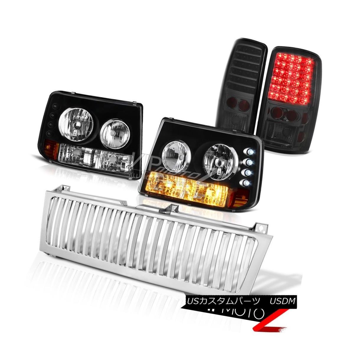 ヘッドライト Bumper Headlight LED Tail Light Chrome Grille 00 01 02 03 04 05 06 Suburban 8.1L バンパーヘッドライトLEDテールライトクロームグリル00 01 02 03 04 05 06郊外8.1L