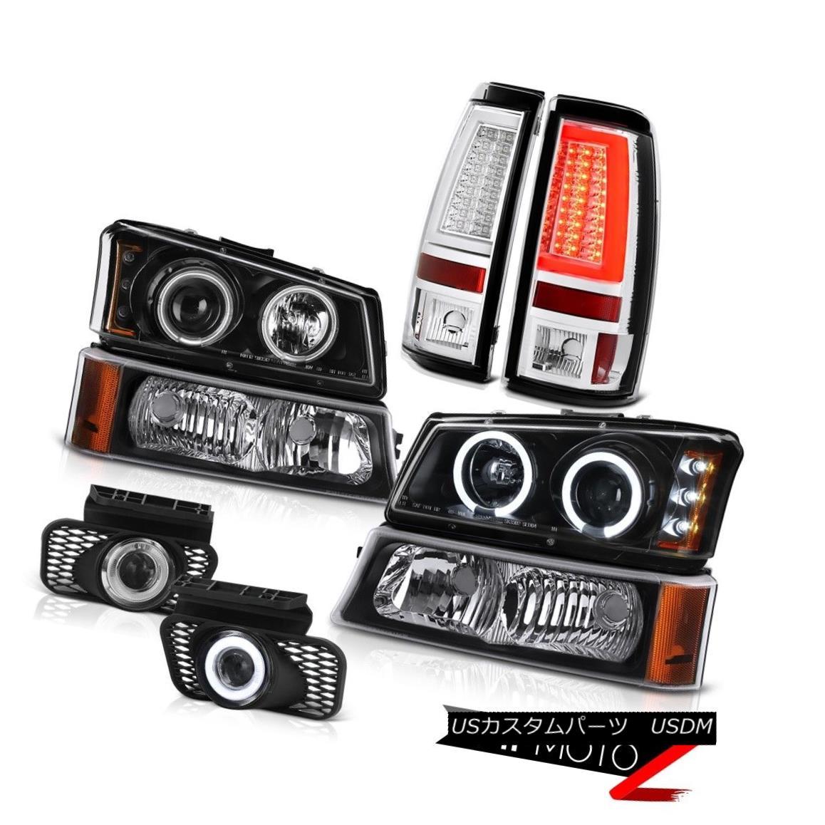 ヘッドライト 03-06 Silverado Tail Brake Lights Bumper Lamp Foglights Headlights Tron Style 03-06 SilveradoテールブレーキライトバンパーランプフォグライトヘッドライトTron Style