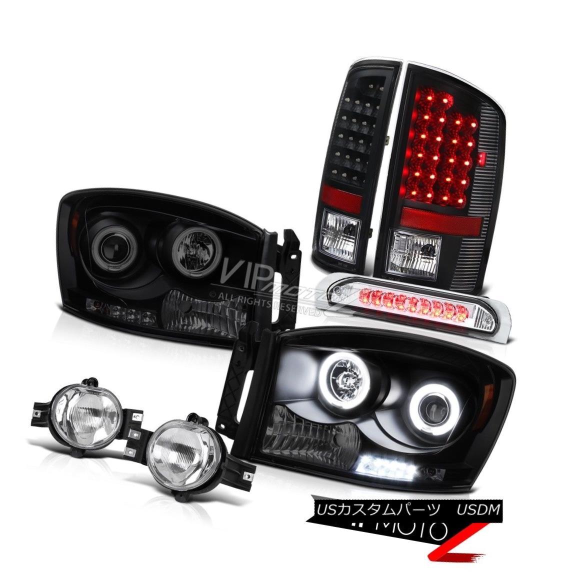 ヘッドライト 2006 Dodge Ram SLT Angel Eye Headlamp Foglight+Wiring Smoke 3RD Brake Cab Light 2006 Dodge Ram SLTエンジェルアイヘッドランプフォグライト+配線 g Smoke 3RDブレーキキャブライト