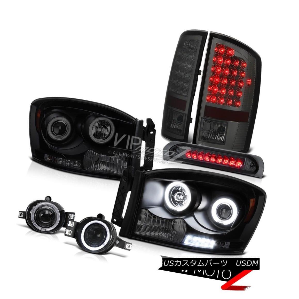 ヘッドライト 06 Dodge Ram Halo Rim CCFL Tech. Headlight Projector Foglamp LED 3RD Brake Lamps 06ドッジラムハローリムCCFL Tech。 ヘッドライトプロジェクターフォグランプLED 3RDブレーキランプ