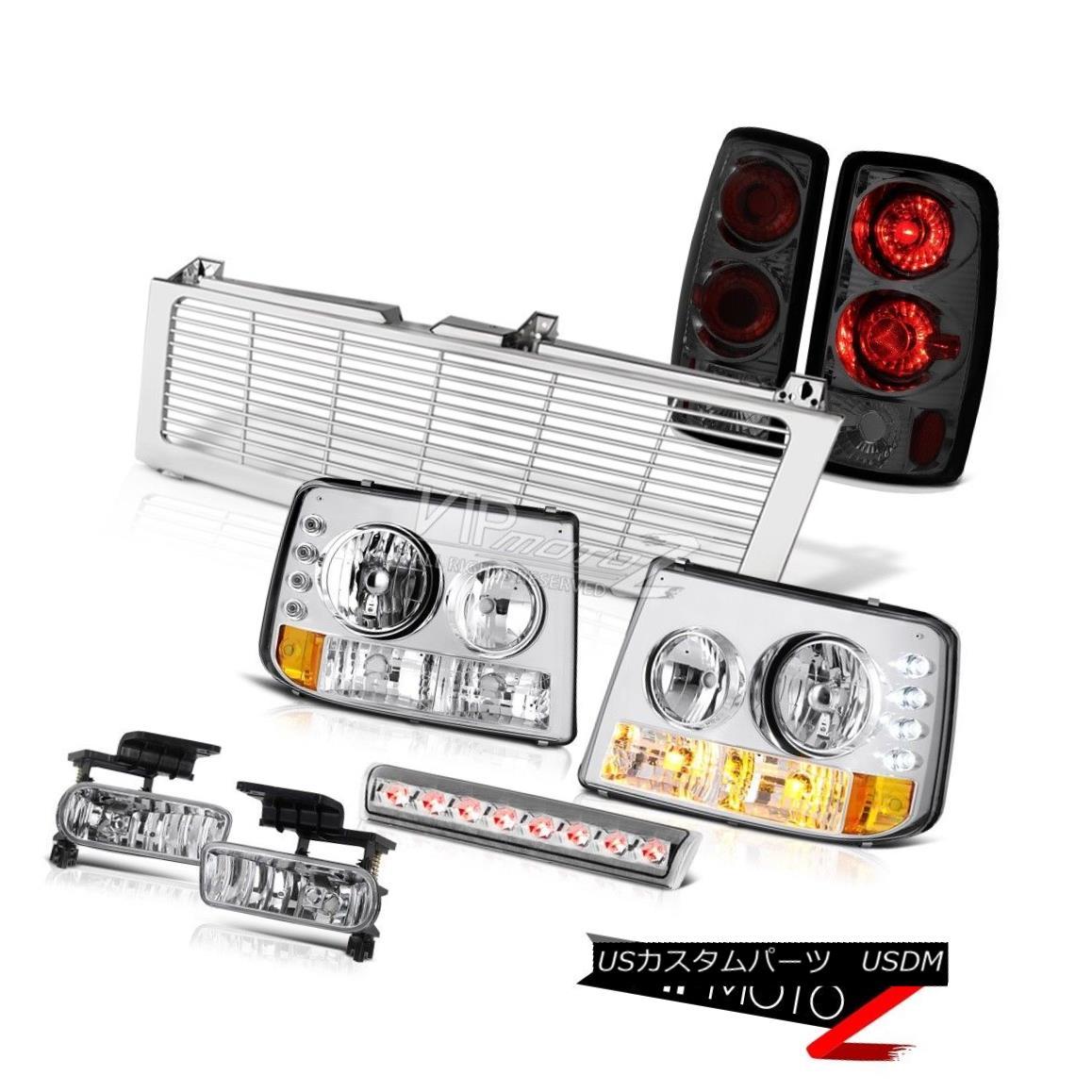 ヘッドライト Headlights 3rd Lamps Tail Sterling Chrome Fog Euro Third LED 00-2006 Chevy Tahoe ヘッドライト第3ランプテールスターリングクロムフォグユーロサードLED 00-2006シボレータホ