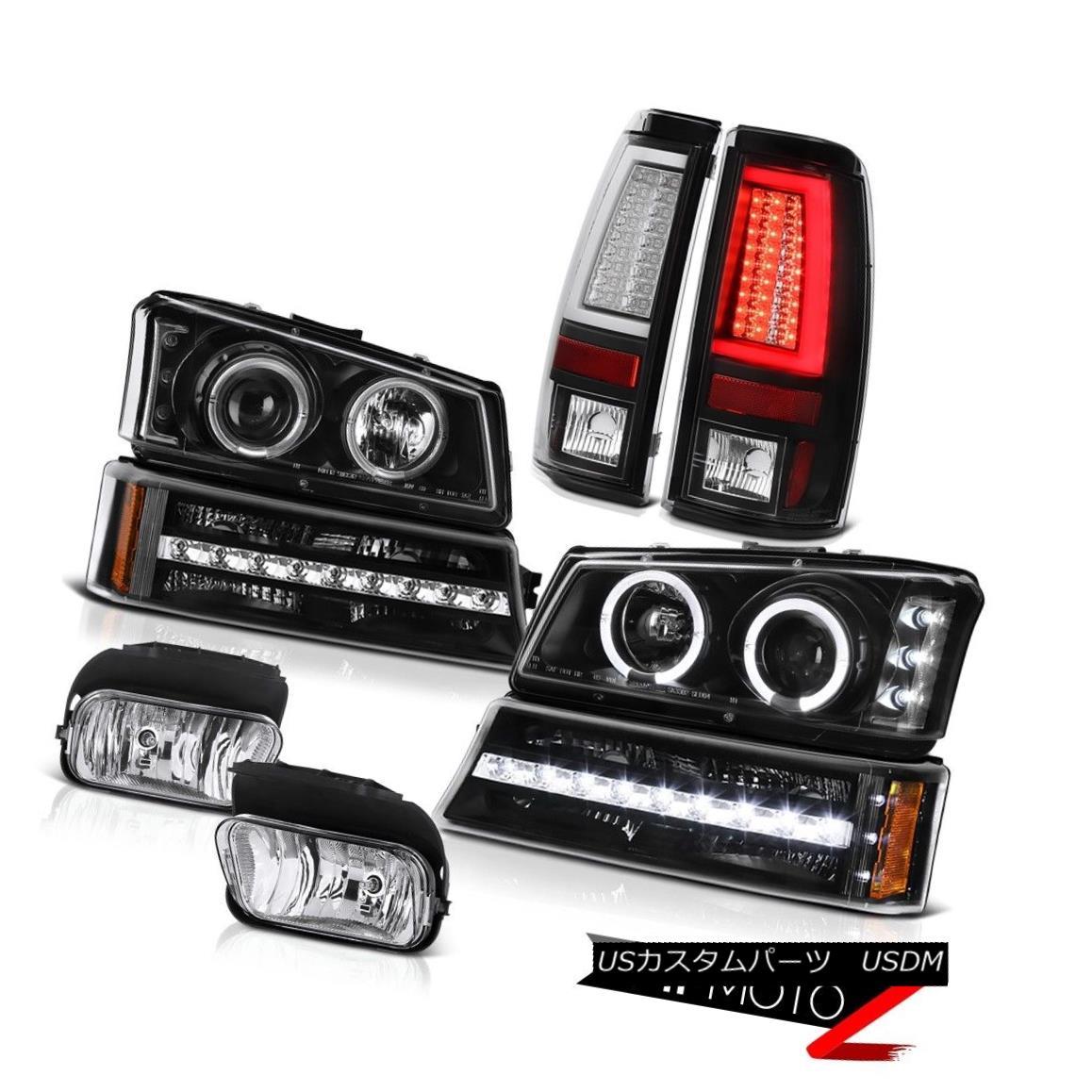 ヘッドライト 03-06 Silverado Tail Brake Lamps Chrome Fog Lights Parking Light Headlamps LED 03-06 Silveradoテールブレーキランプクロームフォグライト駐車ライトヘッドランプLED