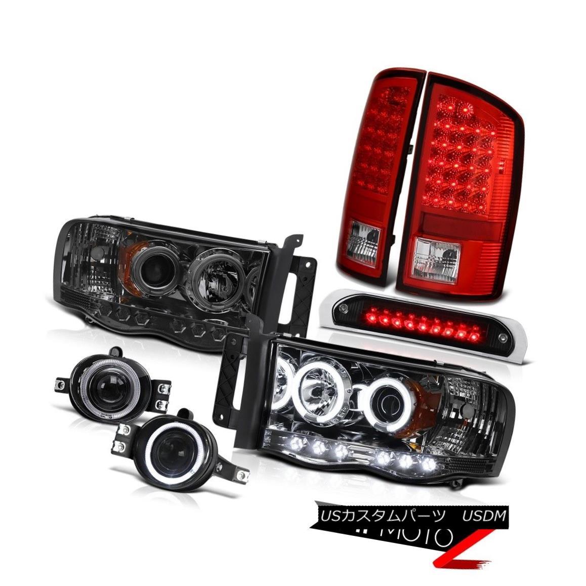 2002-2005 Ram Hemi Headlight Halo DRL LED Smoke Tail Light Chrome Fog Roof Brake