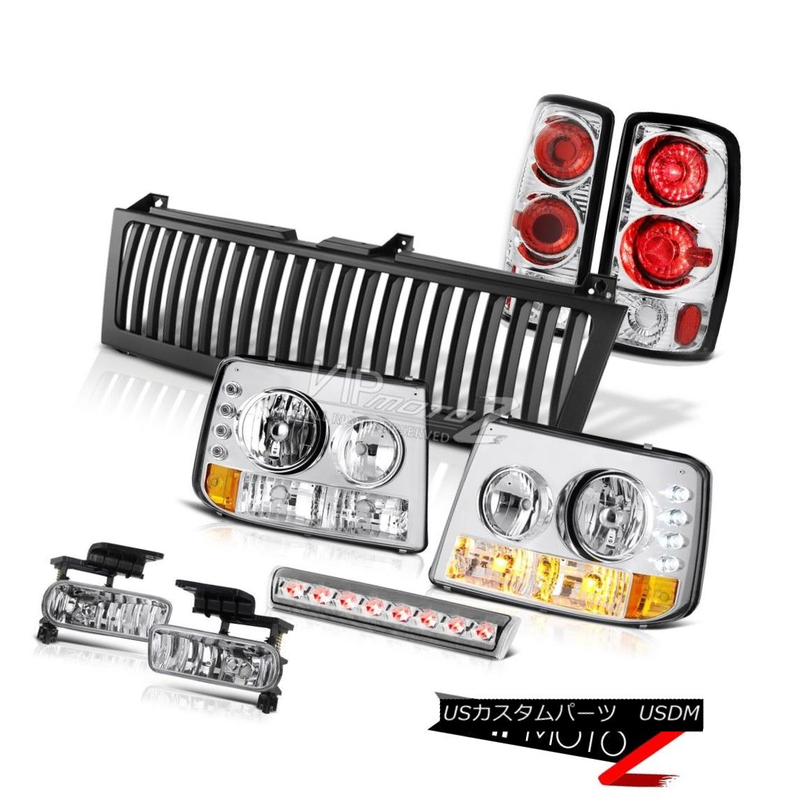 ヘッドライト Headlights Rear Signal Brake Lights Clear Fog LED Grille 2000-06 Chevy Tahoe ヘッドライトリアシグナルブレーキライトクリアフォグLEDグリル2000-06 Chevy Tahoe