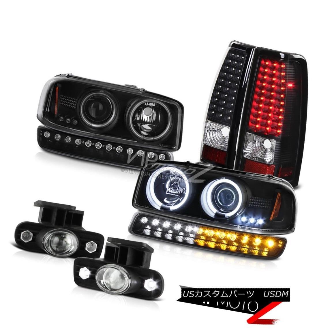 ヘッドライト 99-02 Sierra 6.6L Fog lamps led taillamps signal light ccfl projector headlamps 99-02 Sierra 6.6Lフォグランプは、テールランプ信号ライトccflプロジェクターヘッドライトを導いた
