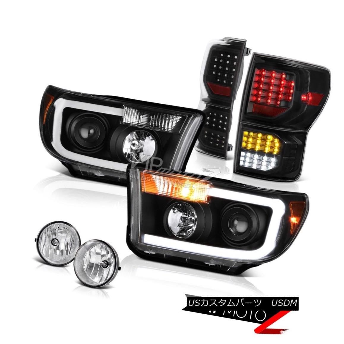 ヘッドライト 07-13 Toyota Tundra Platinum Tail Brake Lamps Headlamps Fog Lights Crystal Lens 07-13トヨタトンドラプラチナテールブレーキランプヘッドランプフォグライトクリスタルレンズ