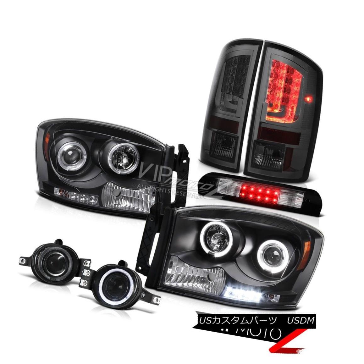 ヘッドライト 2006 Ram 2500 Smoked Taillights Inky Black Headlights Fog Lamps 3RD Brake Lamp 2006 Ram 2500スモークテイルライトインキブラックヘッドライトフォグランプ3RDブレーキランプ