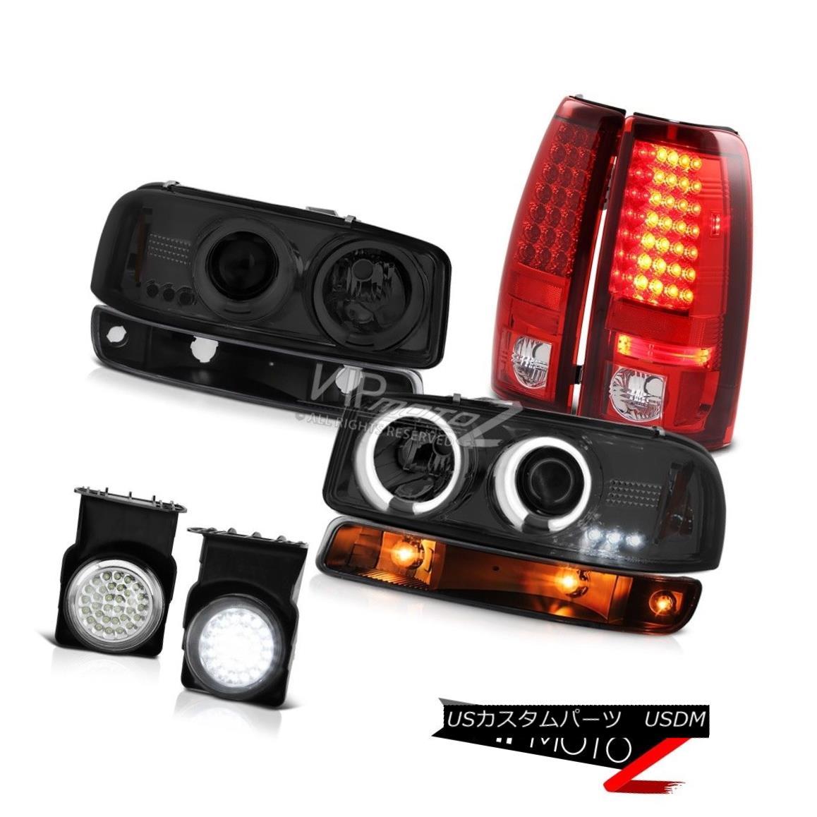 ヘッドライト 03-06 Sierra GMT800 Fog lamps tail brake matte black bumper lamp ccfl Headlamps 03-06 Sierra GMT800フォグランプテールブレーキマットブラックバンパーランプccflヘッドランプ
