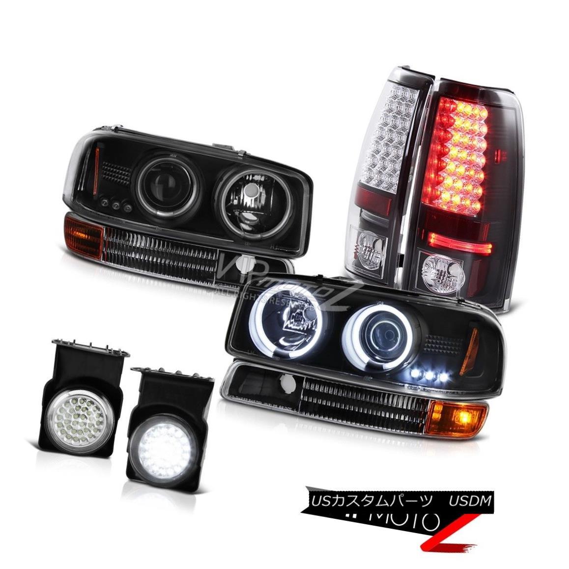 ヘッドライト CCFL Halo Headlights Black Tail Lights Assembly LED Bumper Fog 04-06 Sierra 1500 CCFL HaloヘッドライトブラックテールライトアセンブリLEDバンパーフォグ04-06 Sierra 1500