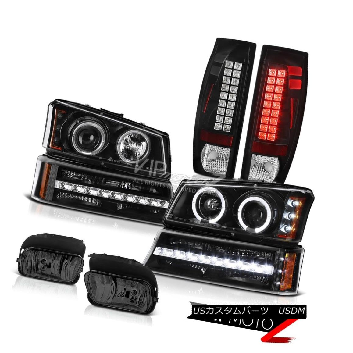 ヘッドライト 03-06 Chevy Avalanche Fog Lights Taillights Parking Light Projector Headlamps 03-06シボレーアバランチェフォグライトテールライトパーキングライトプロジェクターヘッドランプ