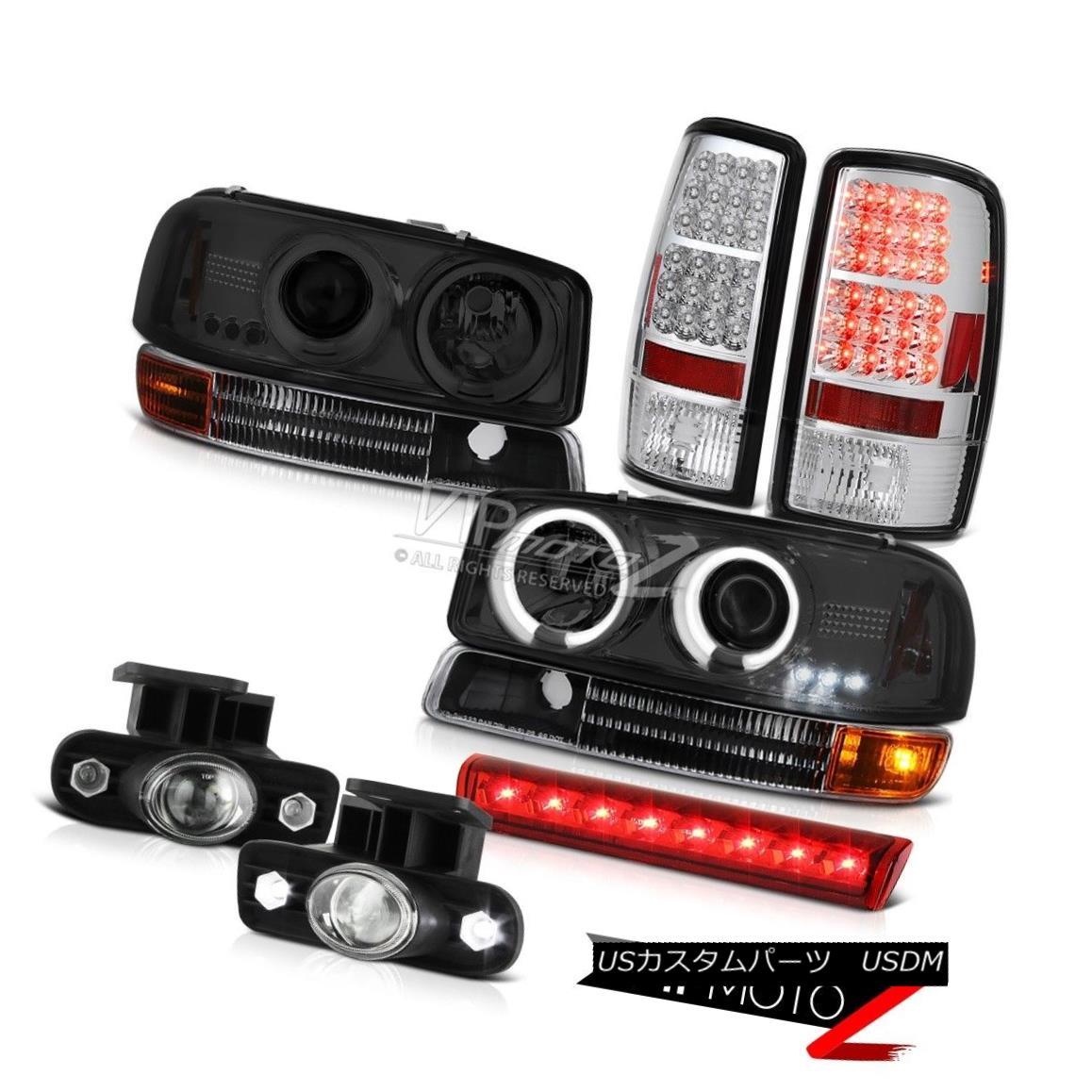 ヘッドライト 00-06 Yukon XL CCFL Angel Eye Headlights Tail Lamps FogLights 3rd Brake Red LED 00-06ユーコンXL CCFLエンジェルアイヘッドライトテールランプFogLights第3ブレーキ赤色LED