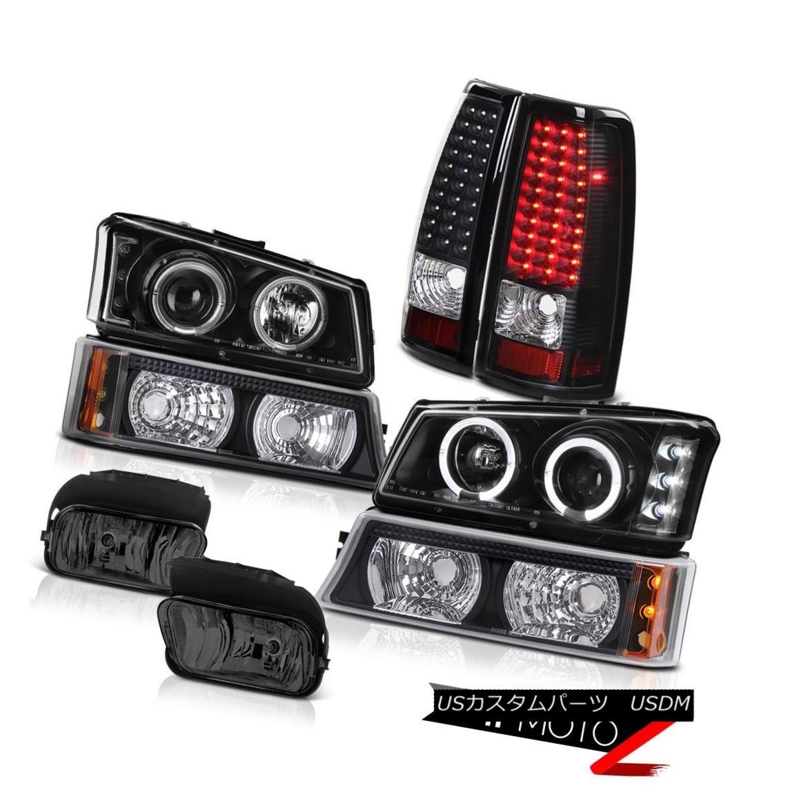 ヘッドライト LED Angel Eye Headlights Signal Matte Tail Light Bumper Foglamp 03-06 Silverado LEDエンジェルアイヘッドライト信号マットテールライトバンパーフォグランプ03-06シルバラード
