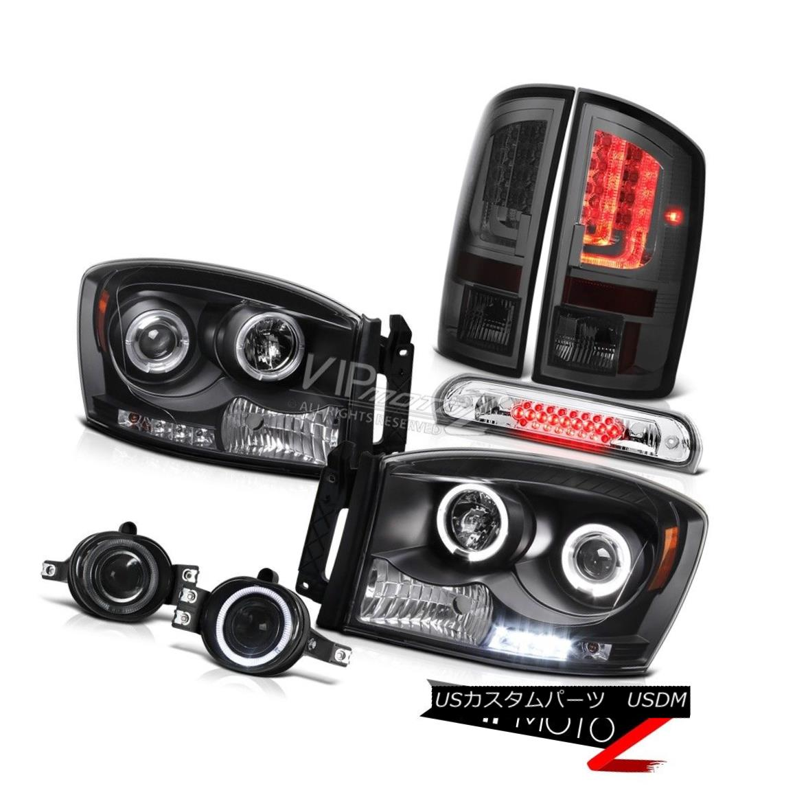 ヘッドライト 2006 Ram ST Tail Lights Matte Black Headlamps Fog 3RD Brake Light