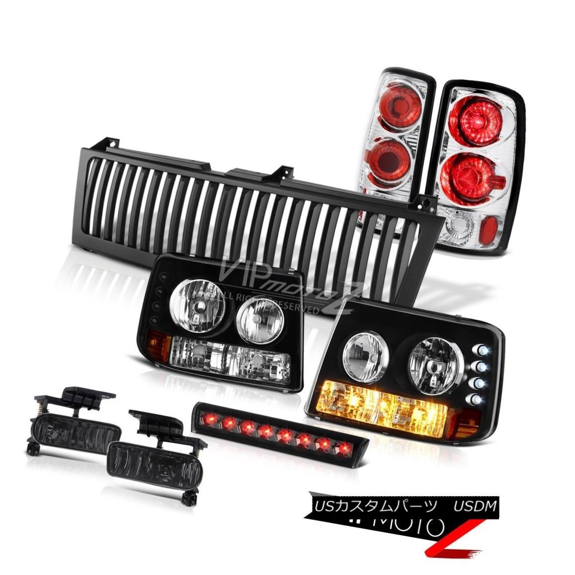 ヘッドライト Black Headlights Rear Signal TaiLamps Smoke Fog 3rd Brake LED 00-06 Chevy Tahoe ブラックヘッドライトリアシグナルタイランプ煙霧第3ブレーキLED 00-06 Chevy Tahoe