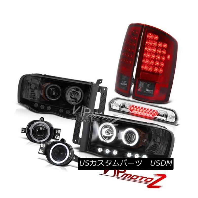 ヘッドライト 2002-2005 Ram Hemi CCFL Halo Headlamps LED Bulbs Tail Lamps Chrome Fog 3rd Brake 2002-2005 Ram Hemi CCFL HaloヘッドランプLED電球テールランプクロムフォグ3rdブレーキ