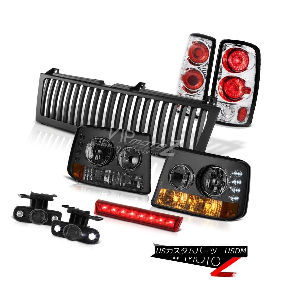 ヘッドライト Smoke Bumper+Headlights Rear Tail Glass Fog 3rd LED Black 00-06 Suburban 5.3L スモークバンパー+ヘッドリッグ htsリアテールグラスフォグ3rd LEDブラック00-06郊外5.3L