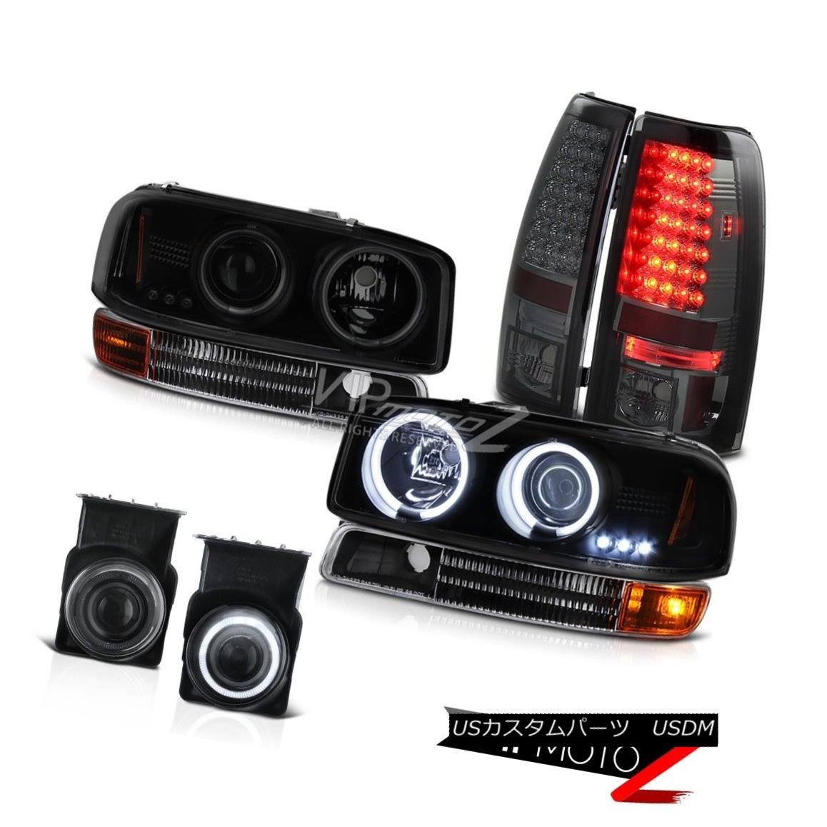 ヘッドライト 2003 Sierra Z71 Headlights CCFL Ring Parking LED Tail Lamps Projector Tinted Fog 2003 Sierra Z71ヘッドライトCCFLリングパーキングLEDテールランププロジェクターティントドフォグ