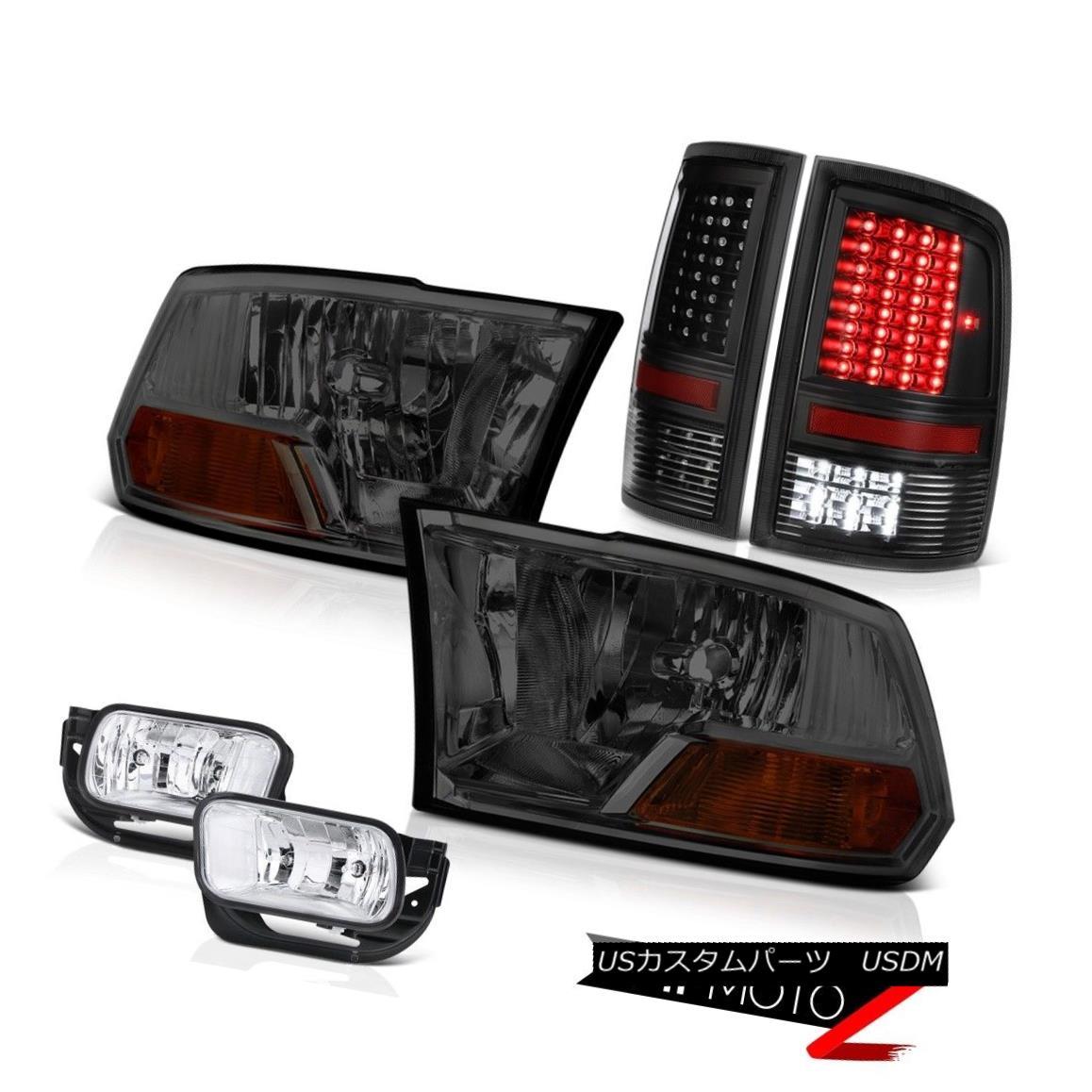 ヘッドライト 2010-2018 Ram 3500 SLT Inky Black Tail Lights Foglamps Headlights
