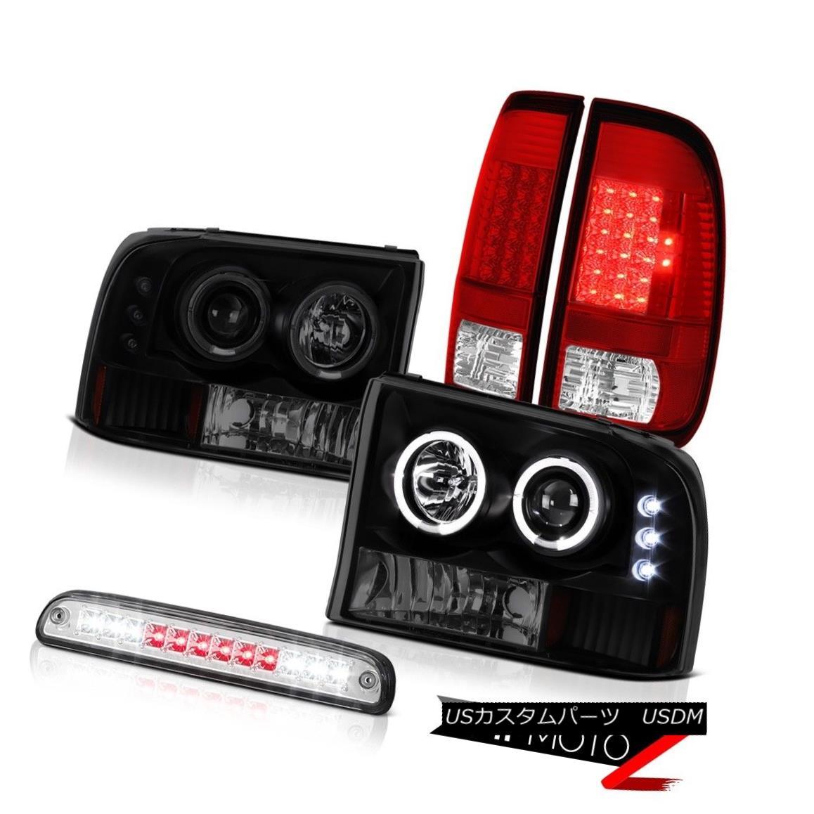 車用品 バイク用品 >> パーツ ライト ランプ ヘッドライト 99-04 F250 7.3L 2X LED Projector Signal LEDプロジェクターヘッドランプ信号テールライトルーフブレーキ 絶品 Tail Halo Headlamps Brake 高品質 Lights Roof