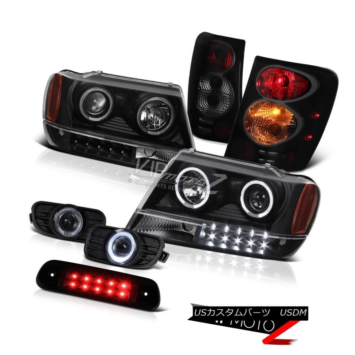 ヘッドライト 99-03 Jeep Grand Cherokee 4X4 Roof Brake Lamp Fog Lights Tail Headlamps LED Bk 99-03ジープグランドチェロキー4X4ルーフブレーキランプフォグライトテールヘッドランプLED Bk