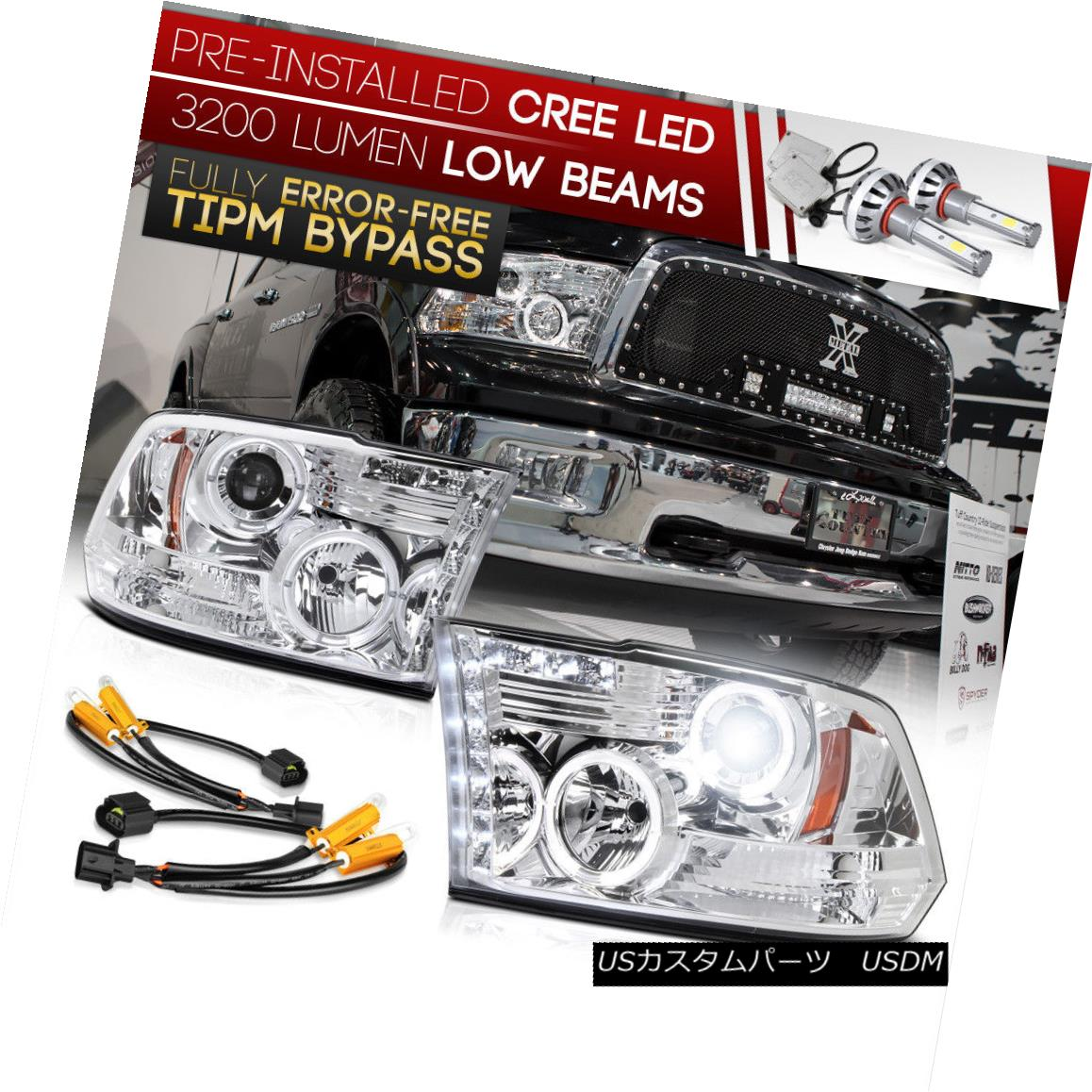 ヘッドライト [Built-In LED Low Beam] 2009-2018 Dodge RAM 1500