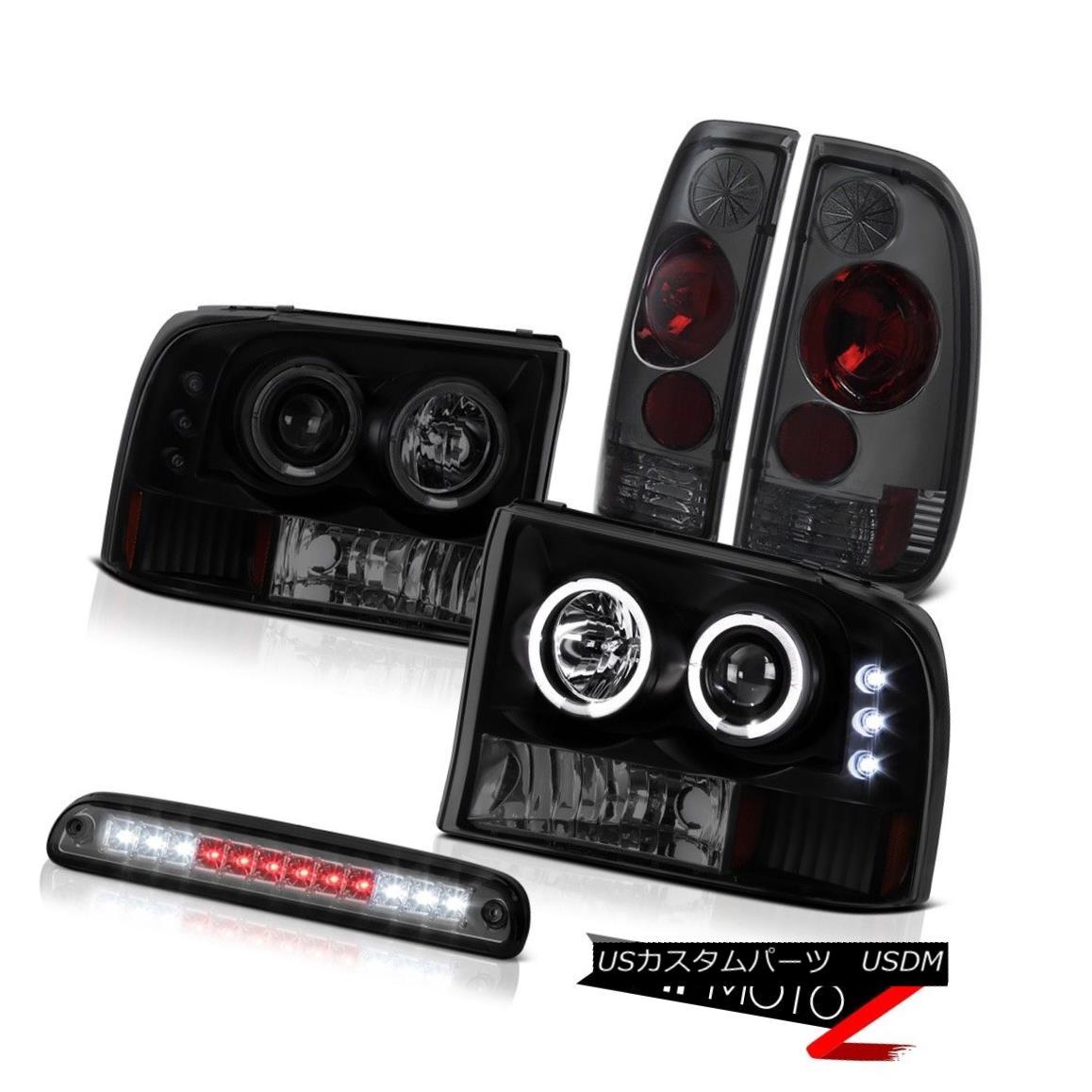 ヘッドライト SMD Sinister Black Headlamps Smoke Third Brake LED Rear Lights 99-04 F350 XLT SMD SinisterブラックヘッドランプSmoke Third Brake LEDリアライト99-04 F350 XLT