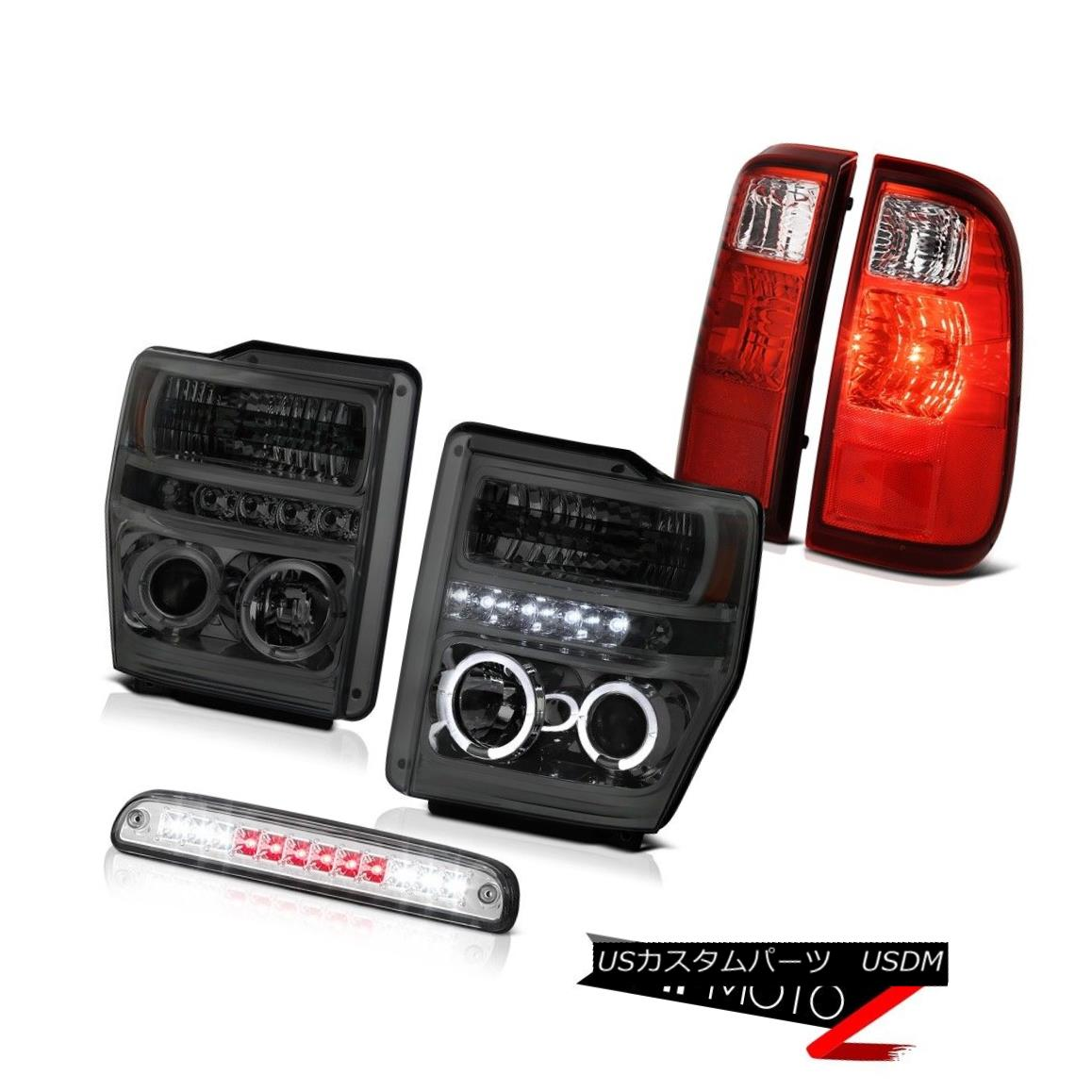 ヘッドライト Projector Headlights Brake Cargo LED Red Signal Tail Lights 2008-2010 F250 F350 プロジェクターヘッドライトブレーキカーゴLEDレッド信号テールライト2008-2010 F250 F350