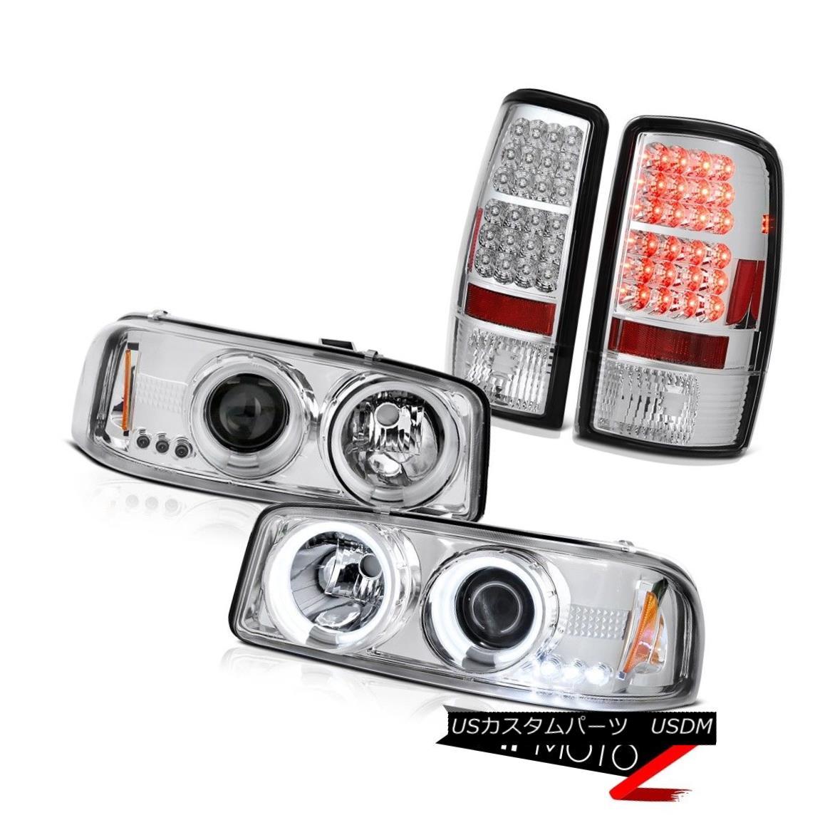 ヘッドライト 01 02 03 04 05 06 Yukon Denali Quality Headlights CCFL Halo LED Brake Tail Light 01 02 03 04 05 06ユーコンデナリクオリティヘッドライトCCFL Halo LEDブレーキテールライト
