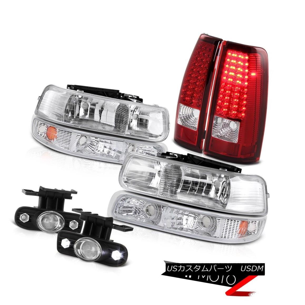 ヘッドライト Chrome Headlamps Signal Brake Lights Projector Bumper Fog 99 00 01 02 Silverado クロームヘッドランプ信号ブレーキライトプロジェクターバンパーフォグ99 00 01 02シルバラード