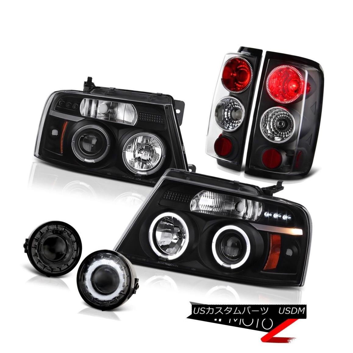 ヘッドライト 06 07 08 FORD F150 Truck Smoke Neon Halo Headlight Projector Fog Lamp Tail Light 06 07 08フォードF150トラックスモークネオンハローヘッドライトプロジェクターフォグランプテールライト