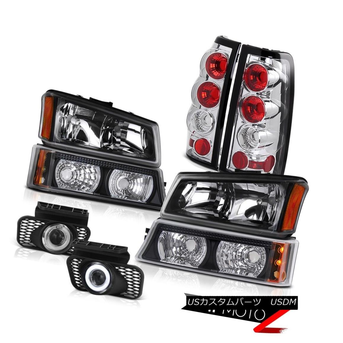 ヘッドライト Black Diamond Headlight Signal Lamps Brake Wire Switch Fog 03 04 Chevy Silverado ブラックダイヤモンドヘッドライト信号ランプブレーキワイヤースイッチフォグ03 04 Chevy Silverado