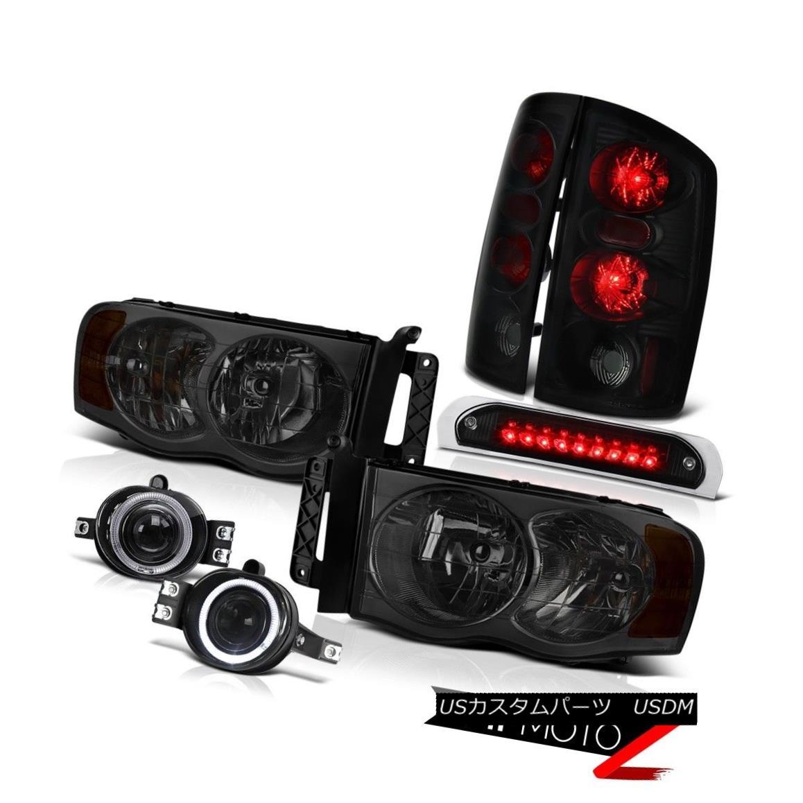 ヘッドライト Tinted Headlights Brake Tail Lights Bumper Fog Roof Stop LED Black 02-05 Ram SLT 着色ヘッドライトブレーキテールライトバンパーフォグルーフストップLEDブラック02-05 Ram SLT