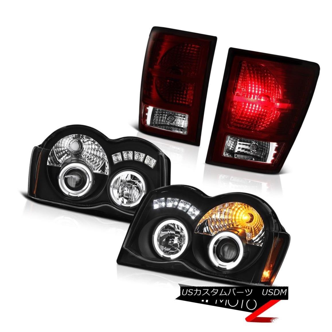 ヘッドライト 08 09 10 Jeep Grand Cherokee Offroad Tail Brake Lights Raven Black Headlights 08 09 10ジープグランドチェロキーオフロードテールブレーキライトレイヴンブラックヘッドライト