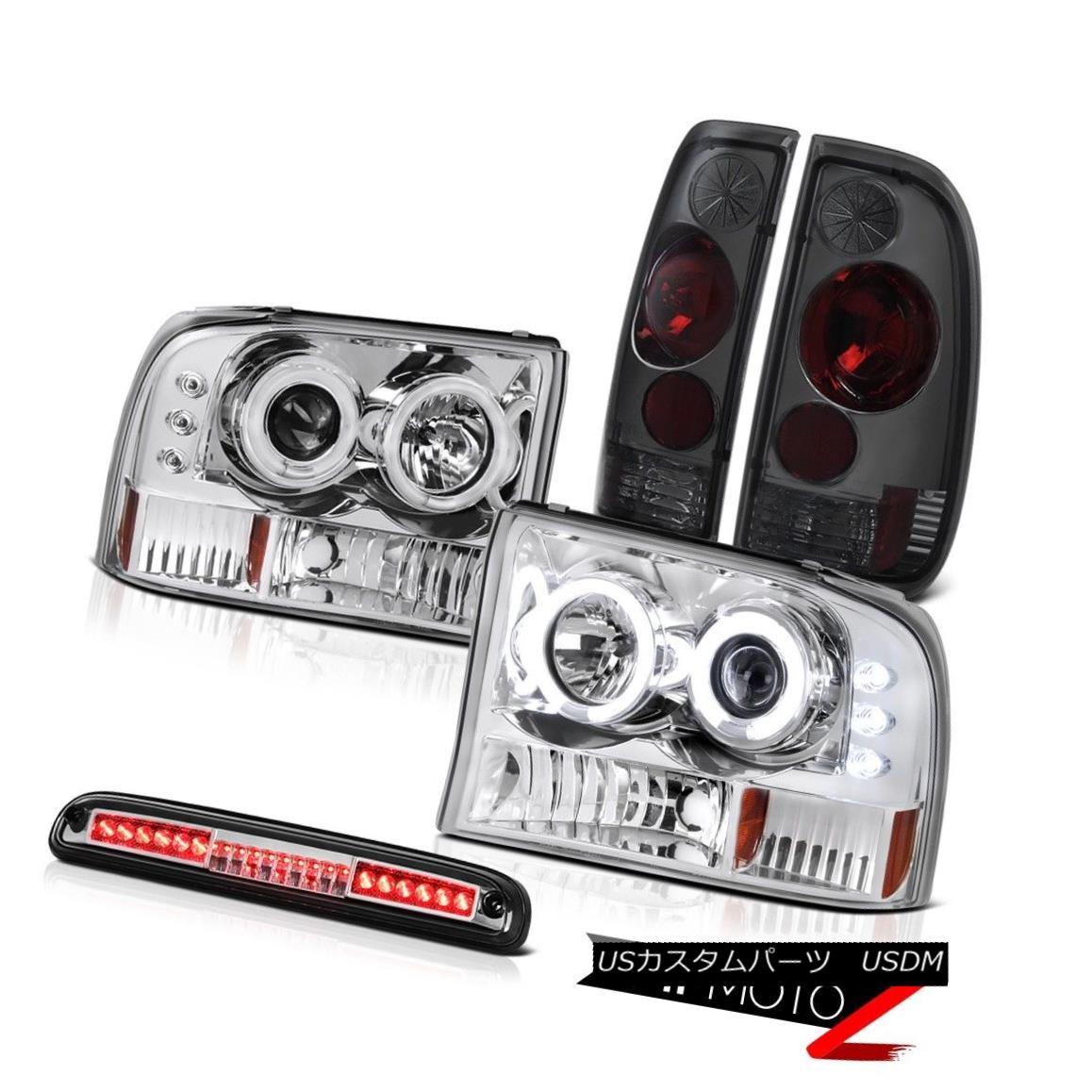 ヘッドライト Euro CCFL Ring Headlamps Rear Tail Light Assembly Third Brake LED 99-04 F350 XL ユーロCCFLリングヘッドランプリアテールライトアセンブリ第3ブレーキLED 99-04 F350 XL