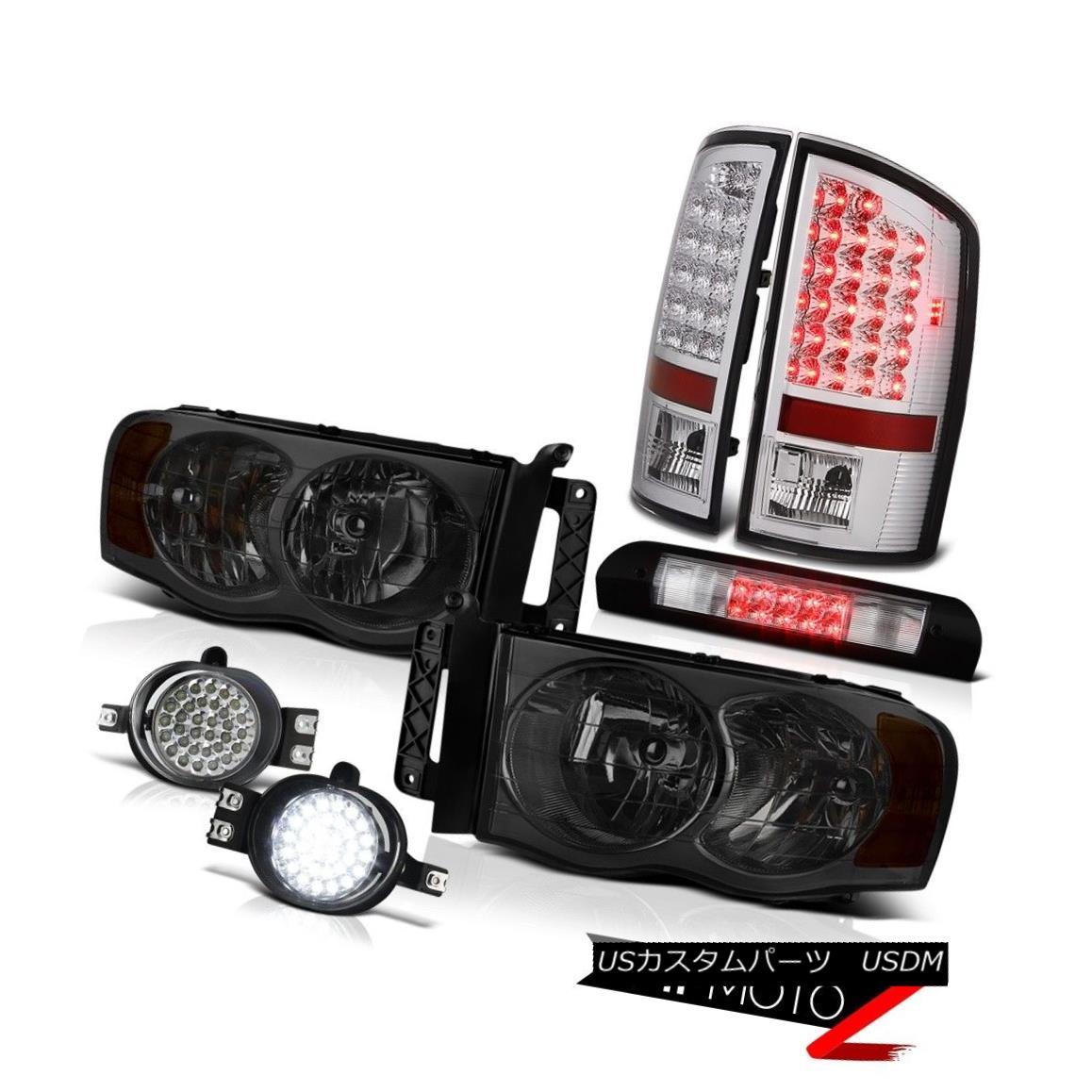 ヘッドライト Crystal Smoke Headlights Brake Tail Lights Trim LED Fog Cargo 02 03 04 05 Ram ST クリスタルスモークヘッドライトブレーキテールライトトリムLEDフォグカーゴ02 03 04 05 Ram ST
