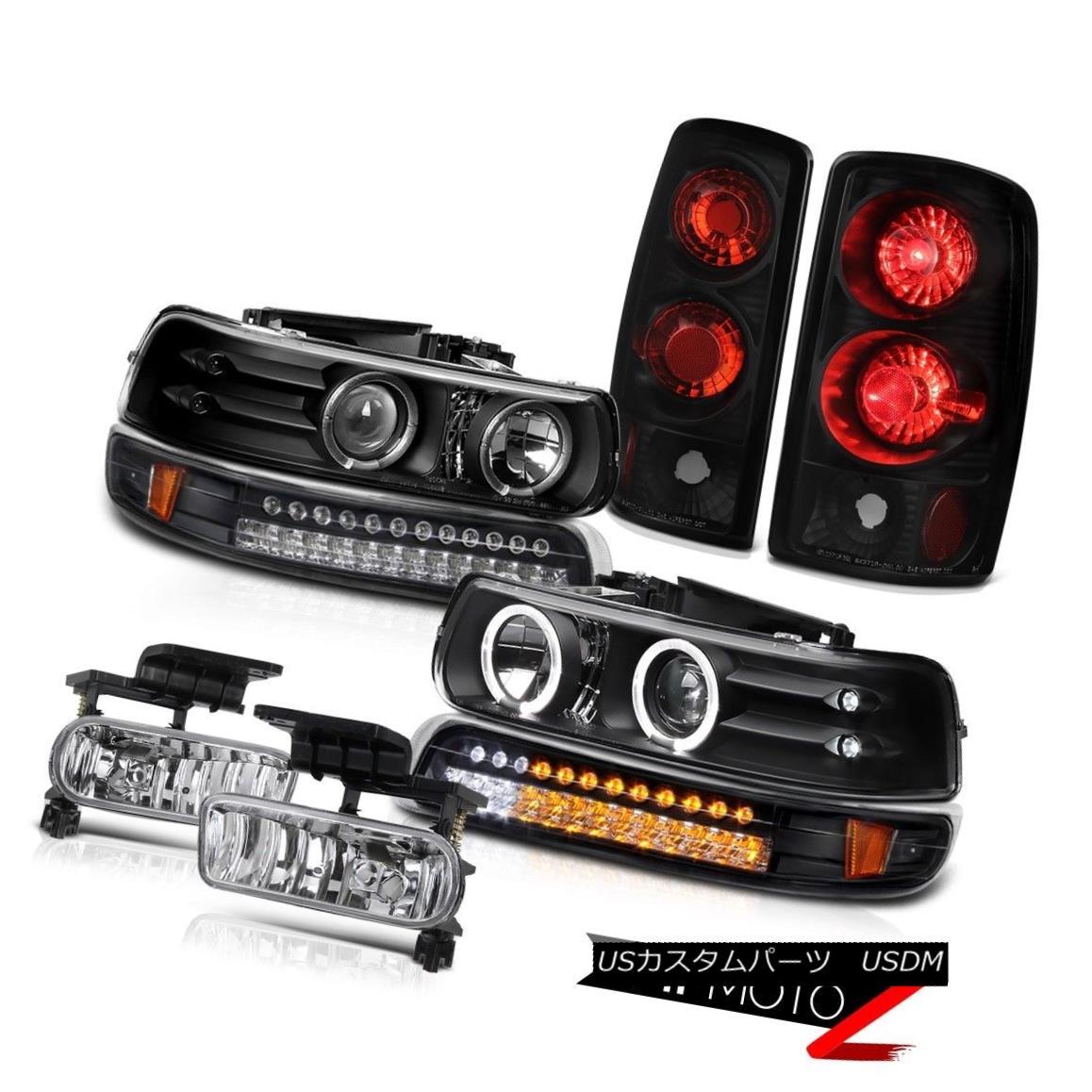 ヘッドライト Daytime Projector LED Parking Rear Black Brake Lamps Bumper Fog 00-06 Tahoe LS 昼間プロジェクターLED駐車パーキングリアブラックブレーキランプバンパーフォグ00-06タホLS