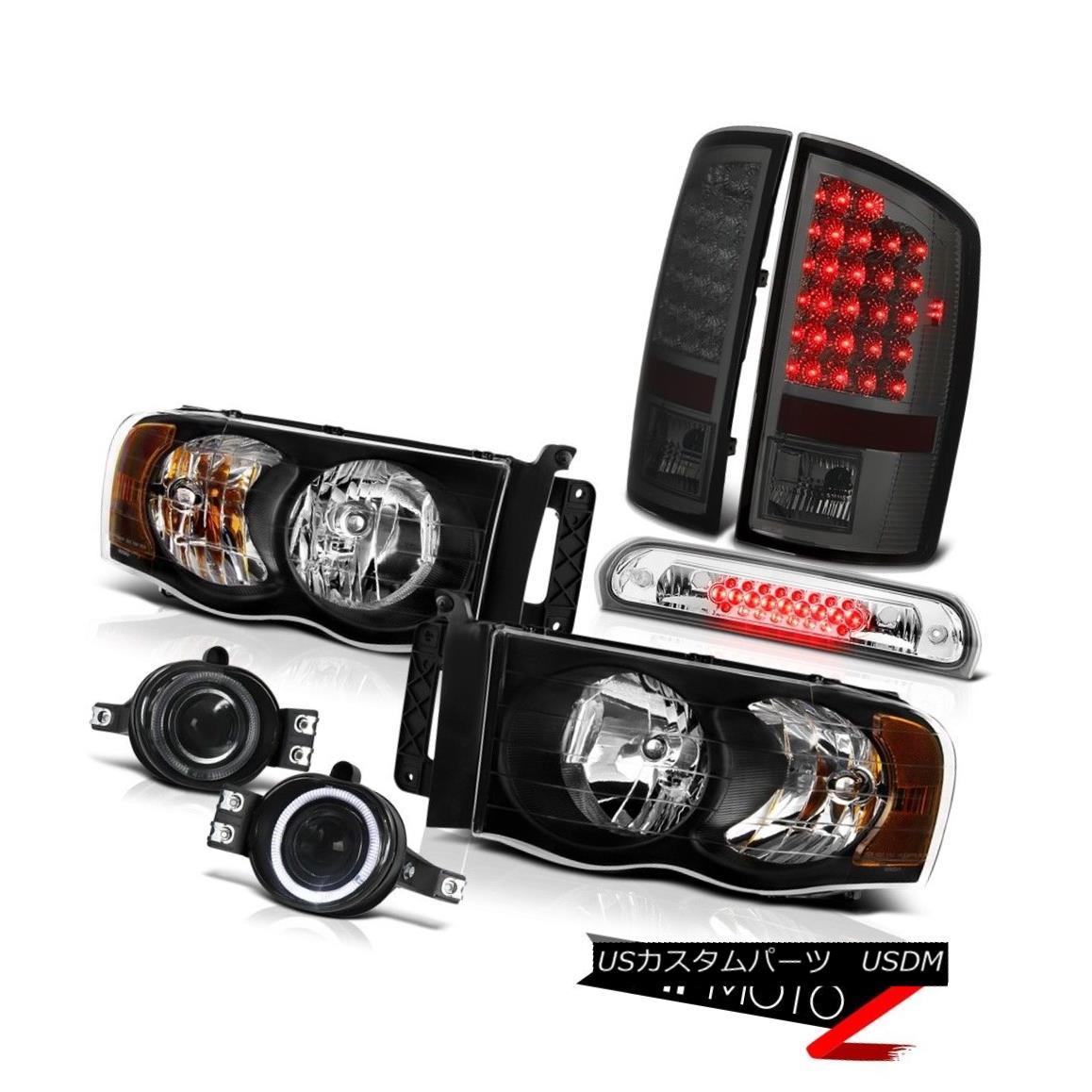 ヘッドライト 02-05 Ram SLT Black Headlights Smoke LED Tail Lights Bumper Fog Roof Brake Cargo 02-05 Ram SLTブラックヘッドライトスモークLEDテールライトバンパーフォグ屋根ブレーキカーゴ