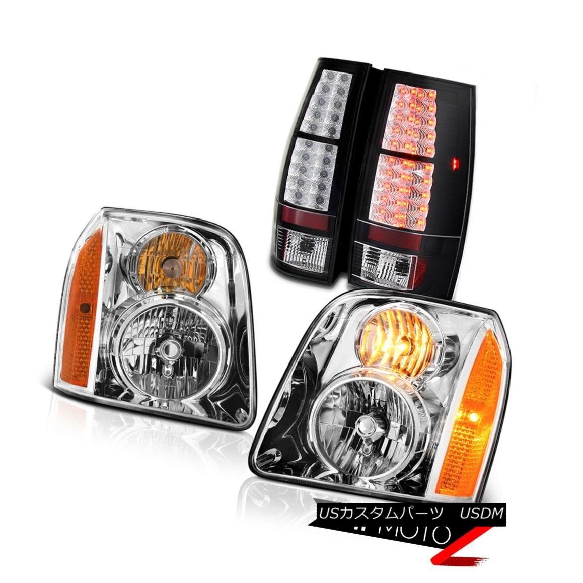 ヘッドライト 07-14 GMC Yukon XL SLE Inky Black Rear Brake Lamps Chrome Headlamps LED OE Style 07-14 GMCユーコンXL SLEインキブラックリアブレーキランプクロームヘッドランプLED OEスタイル