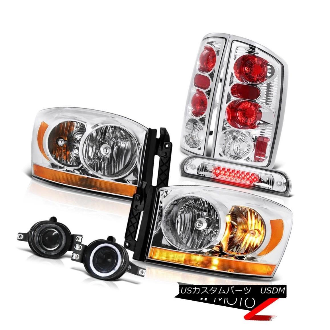 ヘッドライト 2006 Ram 5.7L Euro Chrome Headlights Smokey Foglamps High Stop Lamp Tail Lights 2006 Ram 5.7Lユーロクロームヘッドライトスモーキーフォグランプハイストップランプテールライト
