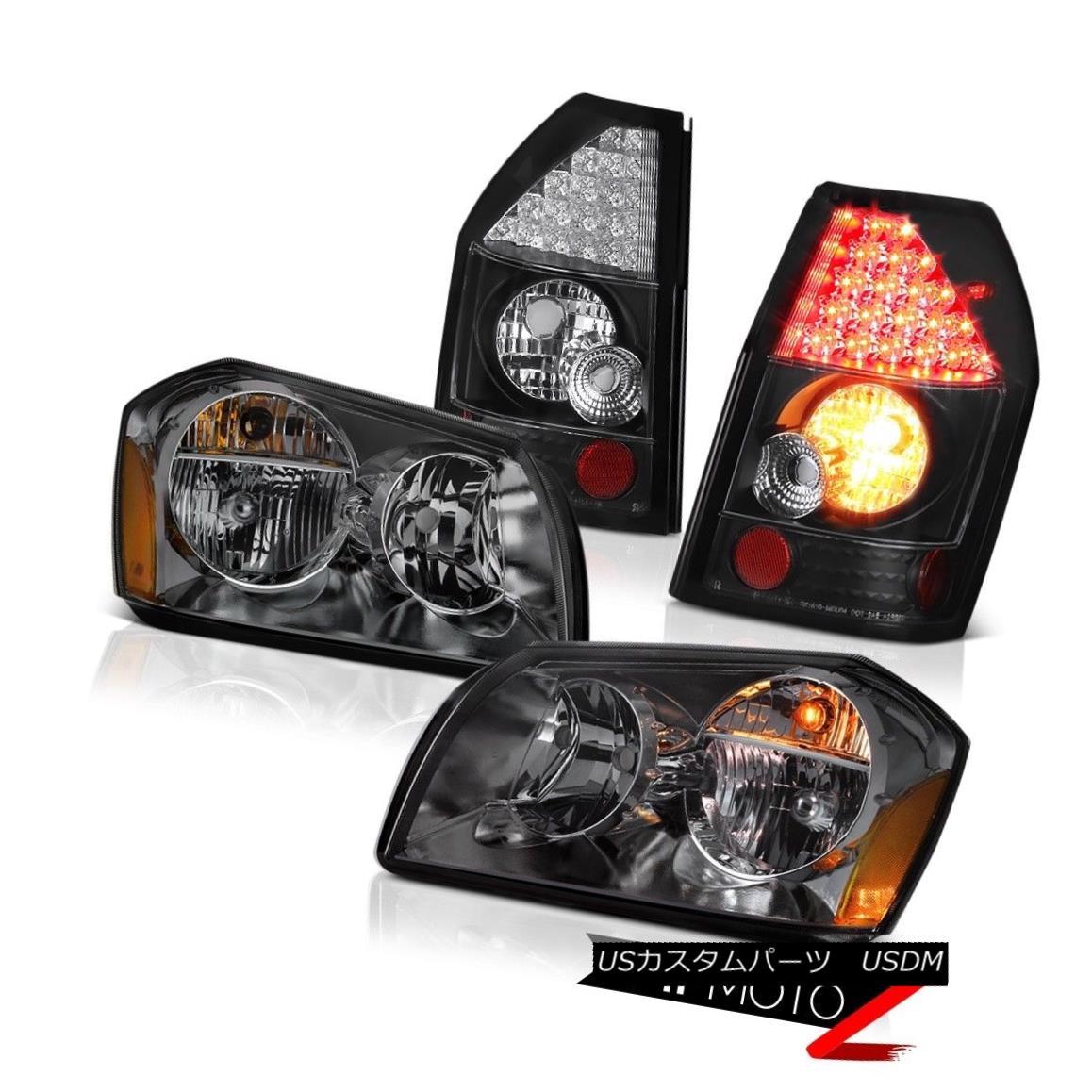 ヘッドライト 05 06 07 Dodge Magnum Rt Tail Brake Lights Smoked Headlights LED