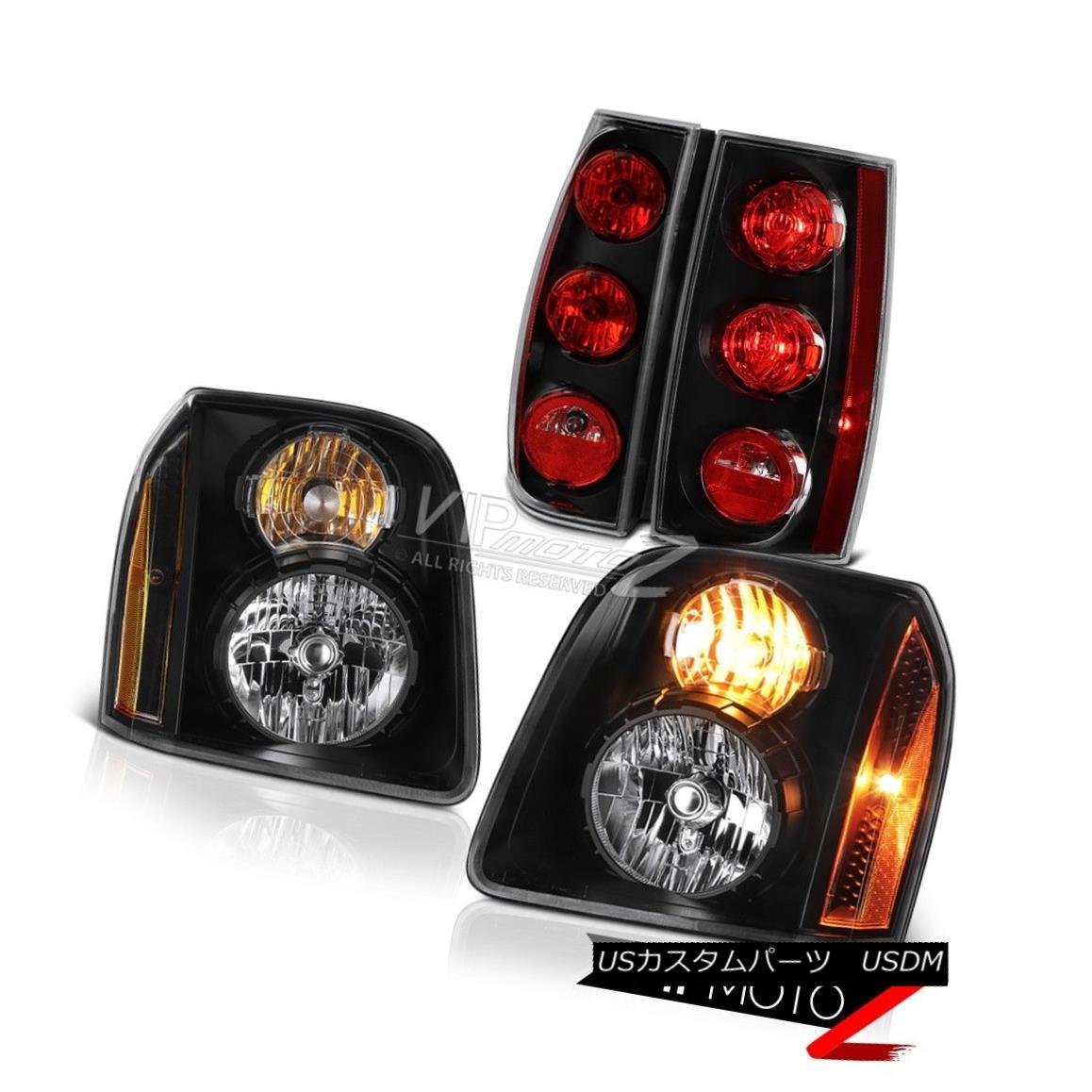 ヘッドライト 07-14 GMC Yukon SLE Matte Black Parking Brake Lights Headlights Factory Style 07-14 GMCユーコンSLEマットブラックパーキングブレーキライトヘッドライト工場のスタイル
