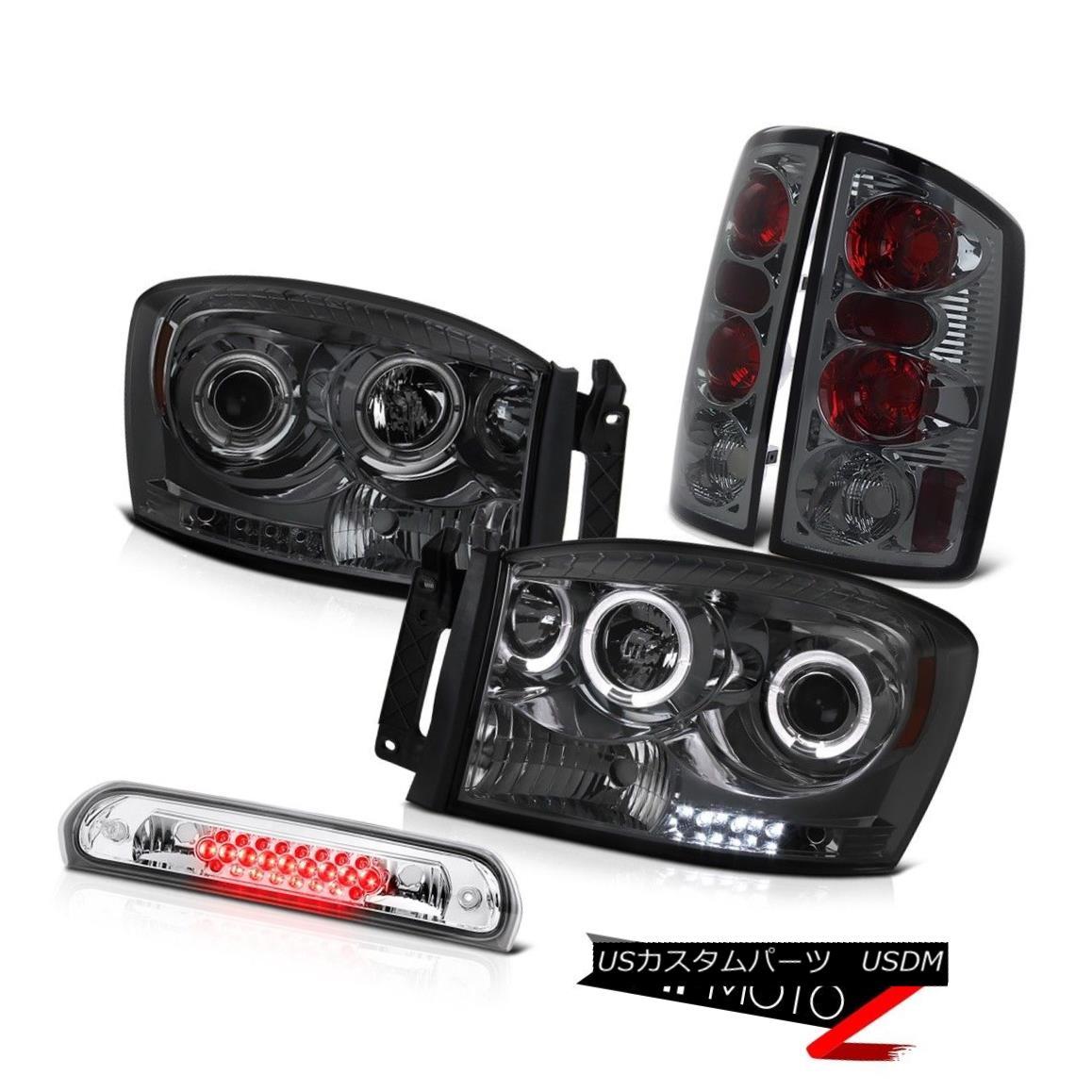 ヘッドライト 2006 Dodge Ram ST Smoke Halo Headlights Rear Brake Tail Lamps Roof Cab Cargo LED 2006ダッジラムST煙ハローヘッドライトリアブレーキテールランプルーフキャブカーゴLED