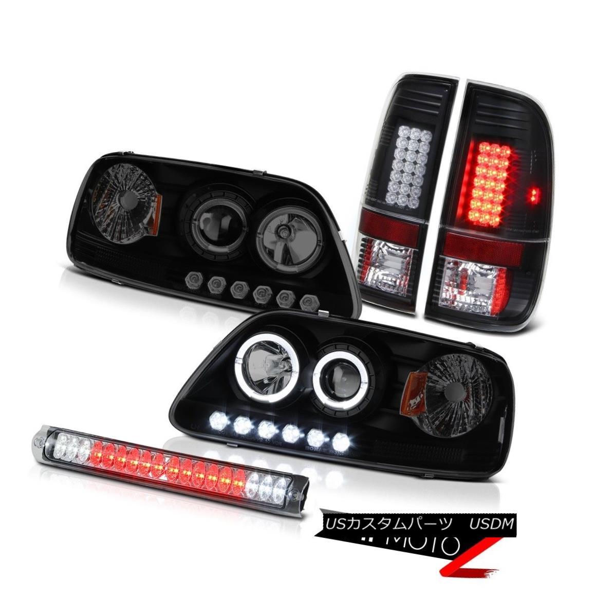 ヘッドライト LED Daytime Headlight Black Taillights Stop Light Chrome F150 Hertiage 1999-2001 LED昼間ヘッドライトブラックテールライトストップライトクロームF150 Heritage 1999-2001