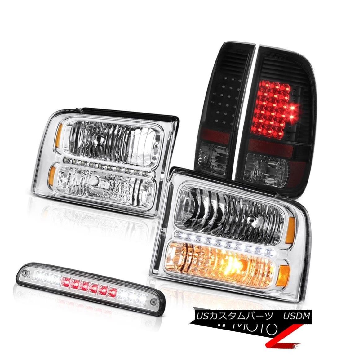 ヘッドライト 05 06 07 F350 Front Headlights Rear Brake Lamp Tail Light Third Cargo Chrome LED 05 06 07 F350フロントヘッドライトリアブレーキランプテールライト第3カーゴクロームLED